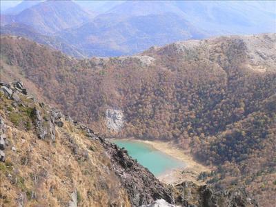 山頂からの五色沼